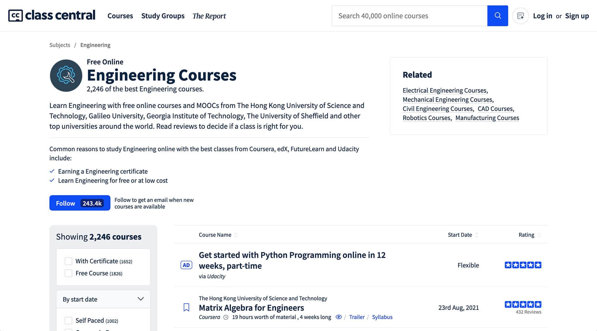 Online courses Niche