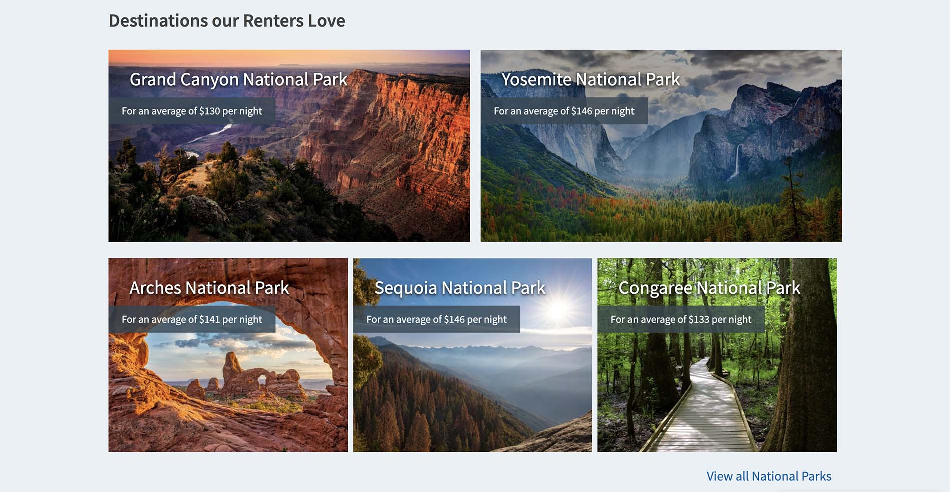 RV rental locations