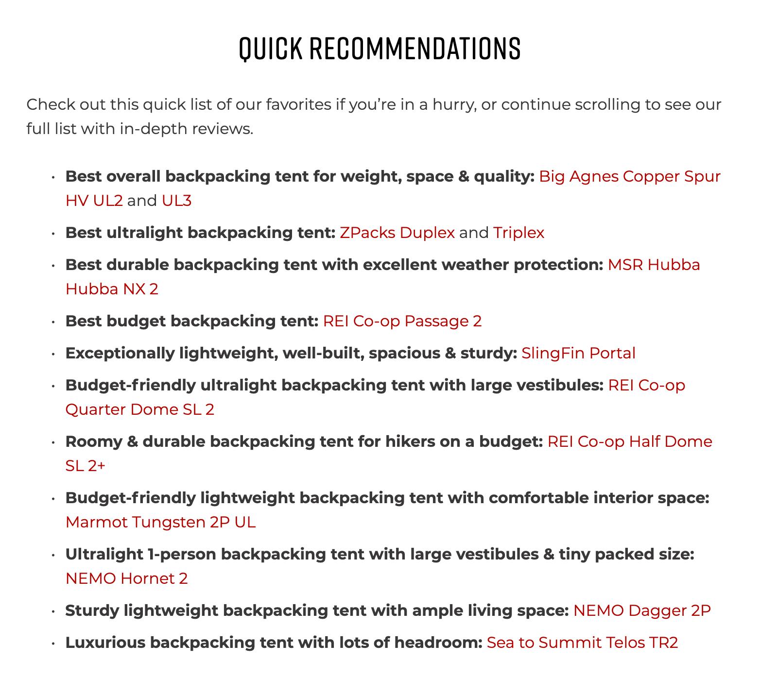 Product Comparison Bullet List